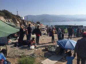 Transit camp / busshållplats mellan Mollyvos och Petra
