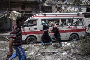 Gaza-bombed-ambulance-July-22-2014